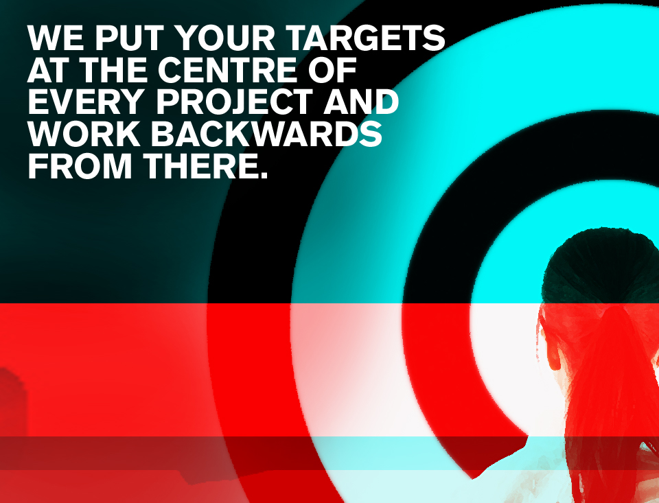 Target graphic – glowing textures