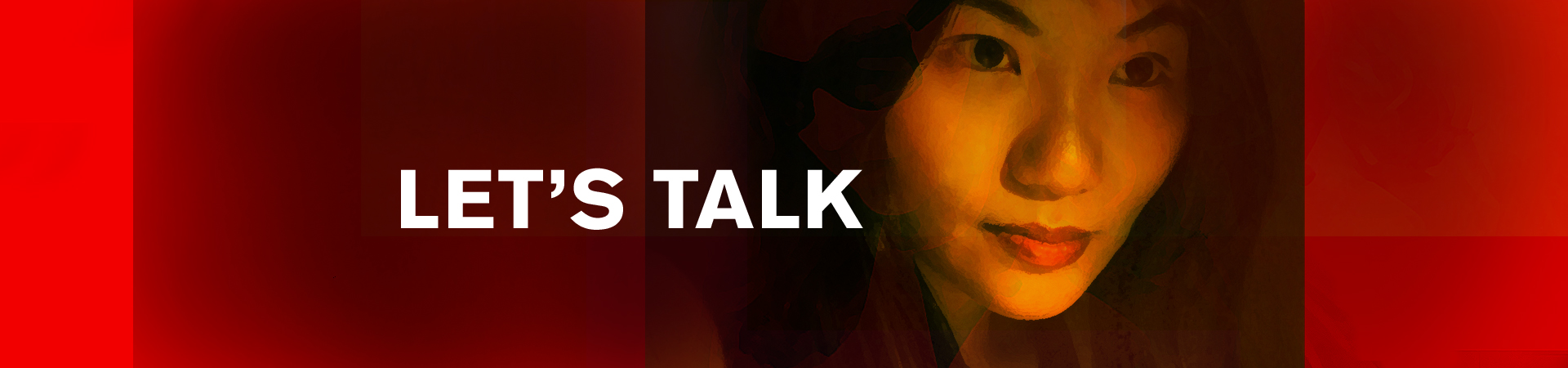 Let's Talk – red graphic